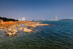 Mar en Qindao fotografía de archivo libre de regalías
