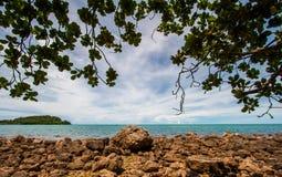 Mar en Tailandia Foto de archivo libre de regalías