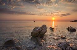 Mar encantado en la mañana Imágenes de archivo libres de regalías