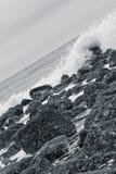 Mar enojado imagenes de archivo