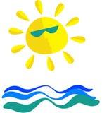 Mar ensolarado ilustração royalty free