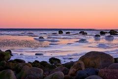 Mar escarchado Fotografía de archivo libre de regalías
