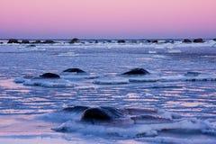 Mar escarchado Foto de archivo libre de regalías