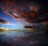 Mar escuro imagens de stock
