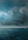 Mar escuro do céu e do perigo imagens de stock