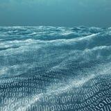 Mar extenso del código binario Imagen de archivo libre de regalías