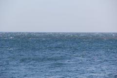 Mar Fuerte viento Crestas blancas visibles de las ondas foto de archivo libre de regalías