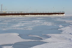 Mar gelado Fotos de Stock