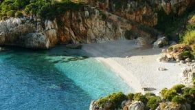 Mar gitano natural Sicilia Italia del golfo de la bahía de la reserva almacen de video