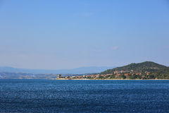 Mar greece da ilha Foto de Stock