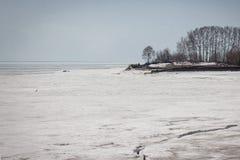 Mar helado Foto de archivo libre de regalías