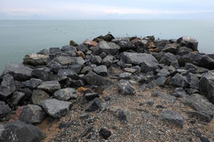 Mar hermoso de Azov de la playa Foto de archivo