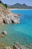 Mar hermoso de Villasimius Foto de archivo libre de regalías