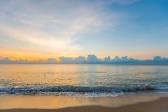 Mar hermoso por la mañana 2 Fotografía de archivo libre de regalías