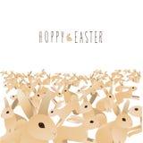 Mar Hoppy de coelhos bonitos com mão magro mensagem tirada ilustração do vetor