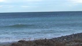 Mar, horizonte y costa almacen de video