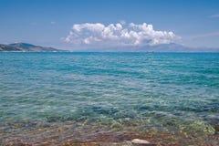 Mar Ionian Fotografia de Stock