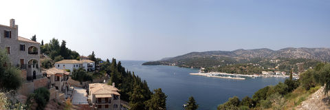 Mar Ionian, console Parga Fotografia de Stock