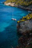 Mar Ionio blu in Zacinto fotografie stock libere da diritti