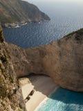 Mar Ionio della spiaggia di Navagio Fotografie Stock Libere da Diritti