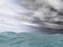 Mar irritado Fotografia de Stock Royalty Free