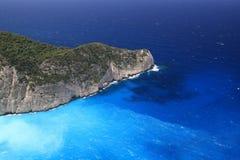 Mar jónico hermoso, Zakynthos Grecia Imagen de archivo