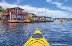 Mar Kayaking Fotos de archivo