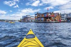 Mar Kayaking Fotografía de archivo libre de regalías