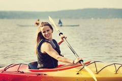 Mar Kayaking Imagenes de archivo