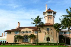 Mar-a-Lago on Palm Beach Island, Palm Beach, Florida. USA. Mar-a-Lago is Palm Beach's grandest mansion with 58 bedrooms and 33 bathrooms. The building was Stock Image