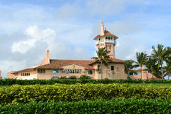 Mar-a-Lago on Palm Beach Island, Palm Beach, Florida. USA. Mar-a-Lago is Palm Beach's grandest mansion with 58 bedrooms and 33 bathrooms. The building was Royalty Free Stock Photography