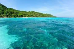 Mar limpio y hermoso Imágenes de archivo libres de regalías