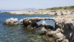 Mar maravilloso un Favignana imagen de archivo