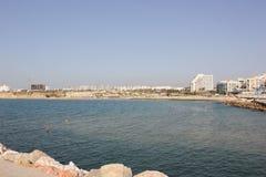 Mar Mediterráneo Ashkelon Israel 2016 imagen de archivo