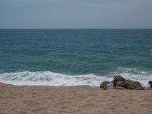 Mar Mediterráneo, Barcelona, España Imágenes de archivo libres de regalías