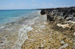 Mar Mediterráneo, Chipre Foto de archivo