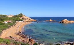 Mar Mediterráneo de la costa menorquina Foto de archivo libre de regalías