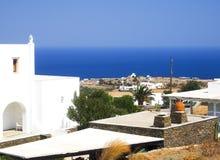 Mar Mediterráneo egeo de la isla de la opinión griega de Sifnos con típico imágenes de archivo libres de regalías