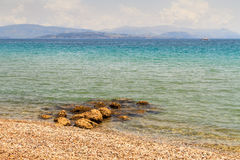Mar Mediterráneo en Corfú Imagenes de archivo