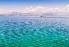 Mar Mediterráneo en Corfú Imagen de archivo libre de regalías