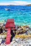 Mar Mediterráneo hermoso, Solta, Croacia Imágenes de archivo libres de regalías