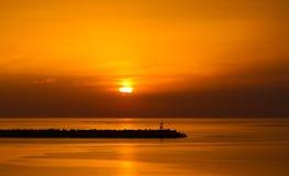 Mar Mediterráneo, Italia Foto de archivo libre de regalías
