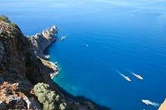 Mar Mediterráneo - playa Alanya, Turquía Foto de archivo