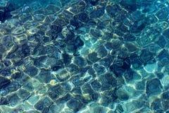 Mar Mediterráneo - refracción óptica Imagen de archivo libre de regalías
