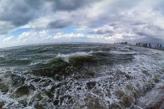 Mar Mediterráneo tempestuoso Imagenes de archivo