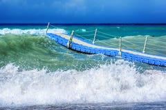 Mar Mediterráneo tempestuoso, lado Fotografía de archivo