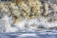 Mar Mediterráneo tempestuoso, lado Imágenes de archivo libres de regalías