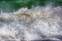 Mar Mediterráneo tempestuoso, lado Fotos de archivo