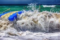 Mar Mediterráneo tempestuoso, lado Fotografía de archivo libre de regalías