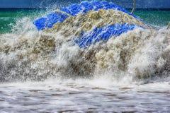 Mar Mediterráneo tempestuoso, lado Imagen de archivo libre de regalías